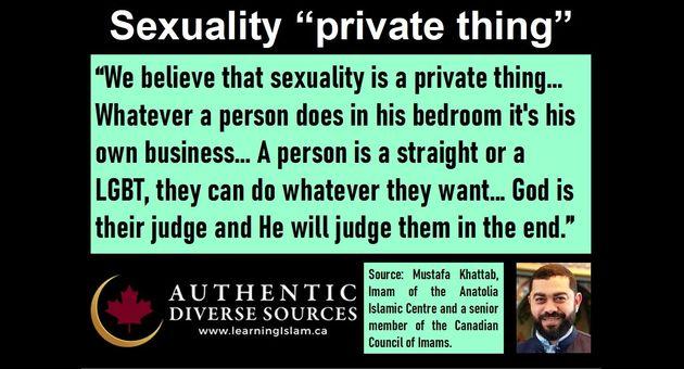 Progressive pro-LGBTQ statements by Toronto Imam Mustafa Khattab
